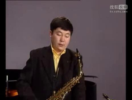 中音萨克斯管初级练习曲02 视频