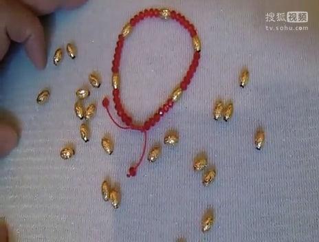 手工编织紫色彩珠戒指-时尚饰品-戒指/指环