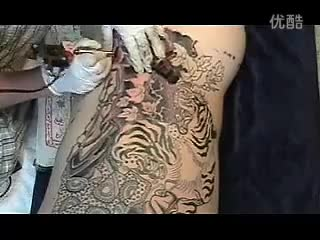 【失逝】人体纹身现场(行者.武松)