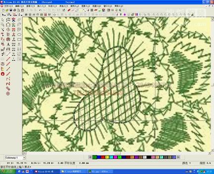 绣花制版教程教学威尔克姆实例台布花型