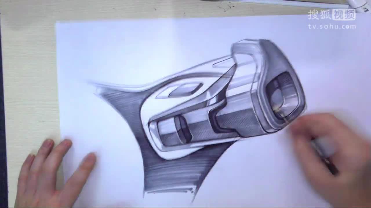 工业设计产品手绘垃圾桶设计手绘表达-下篇 维晶正方工业